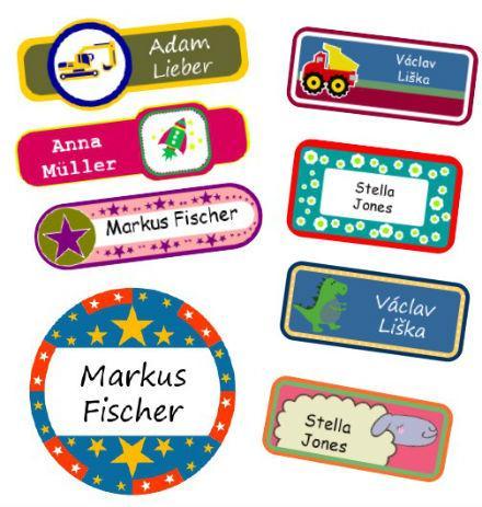 Stylový design štítku Happy Label