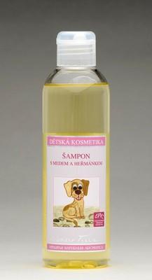Šampon s medem a heřmánkem