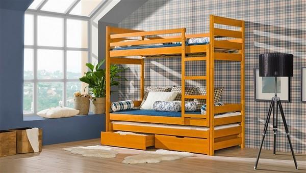 Patrová postel s úložným prostorem