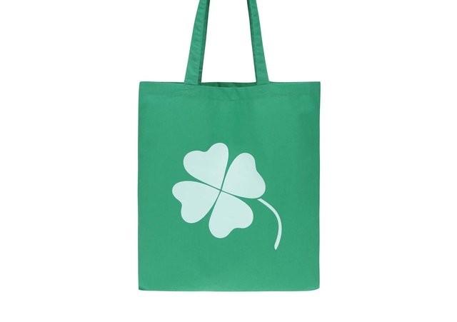 Zelená plátěná taška ZOOT original čtyřlístek