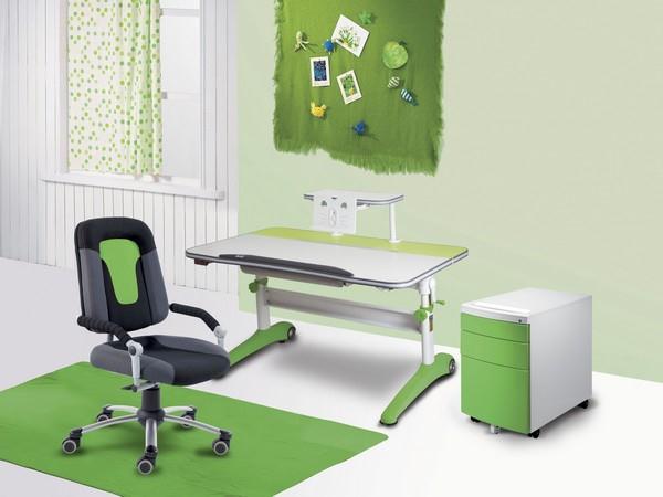 Výbava dětského pokoje se stolem Racing 32R2 +židle Freaky Sport 2430 + polička se čtecím nástavcem + kontejner.