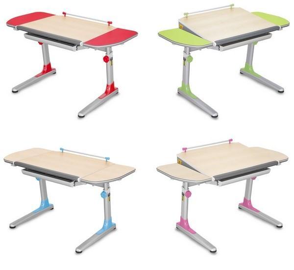 Rostoucí stůl PROFI3 – varianty s barevnými křídly (typ: 32P3 11, 32P3 13) a javorovými křídly (typ: 32P3 17 TW, 32P3 19 TW)