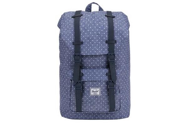 Světle modrý puntíkovaný batoh Herschel Little America Mid Volume3