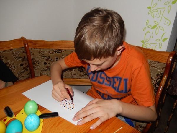 Příprava otisku na vajíčko
