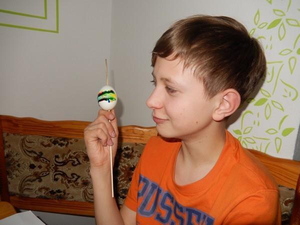 Výsledek - vajíčko zdobené originální metodou - OTISKEM