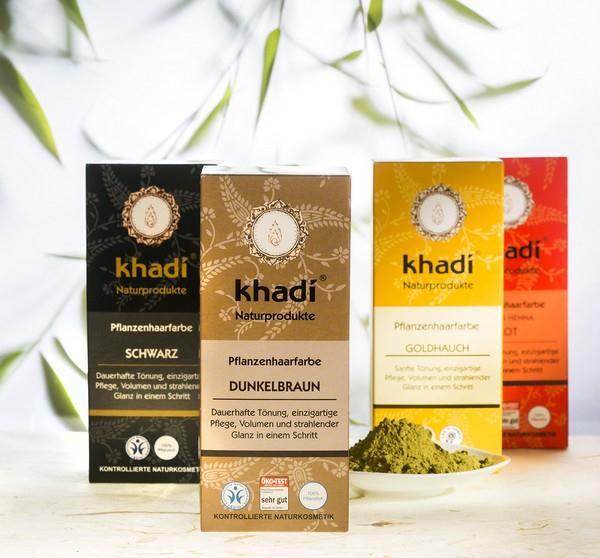 Rostlinné barvy na vlasy Khadi