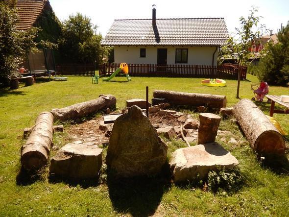 Zahrada s ohništěm Pension Styl
