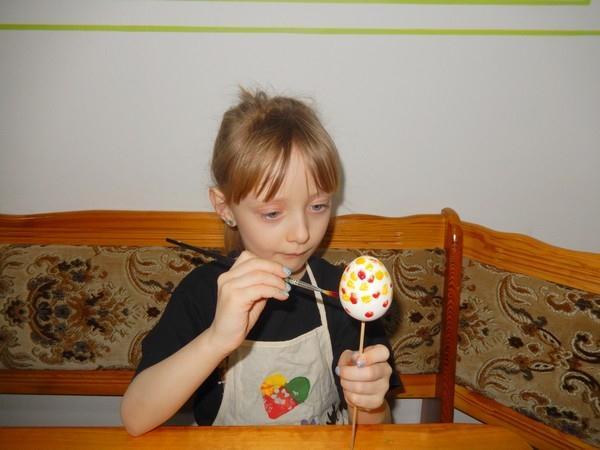 Příprava puntíkovaného vajíčka