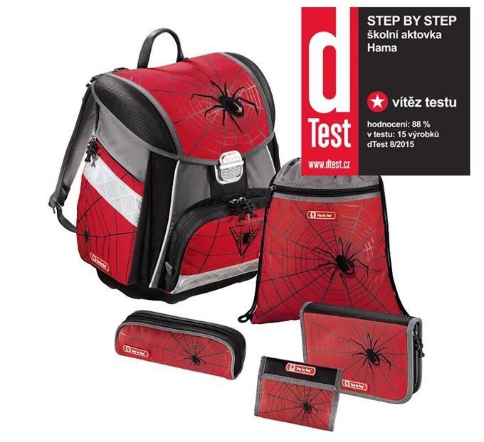 Školní taška Červený pavouk