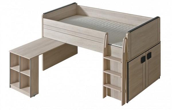Dětská postel s výsuvným pultem