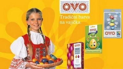 OVO tradiční barvy na vajíčka